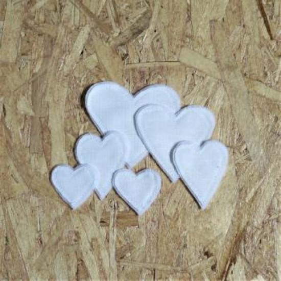 AV2021-4 Cœurs blanc textile