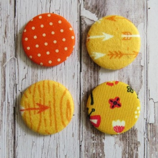 Gros badge-collection orange