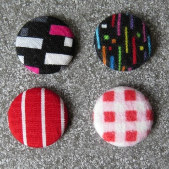 Badge textile - rouge