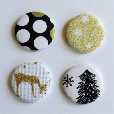 Collection oir & or- gros badges textile