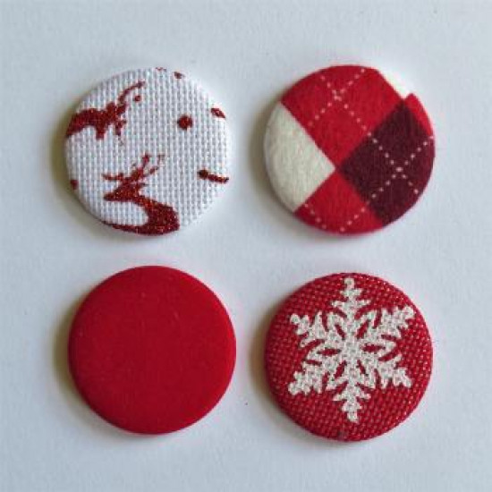 Collection rouge & blanc- gros badges textile