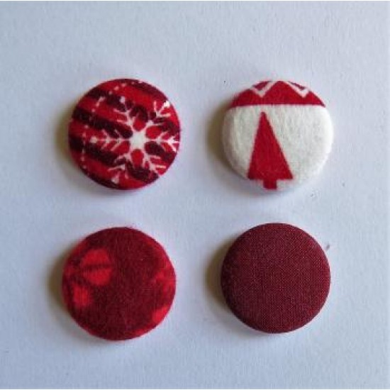 Collection rouge & blanc -petits badges textile