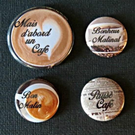 Badge citation-café