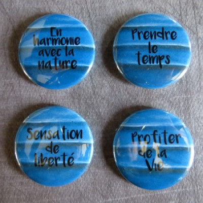 Badge texture-Harmonie-bleu