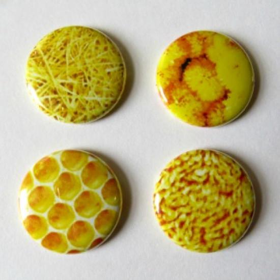 Badge texture- jaune-1