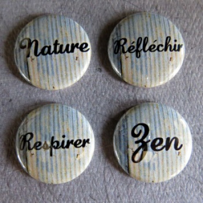 Badge mot-nature
