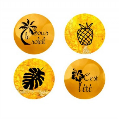 Petit badge- Collection Ananas