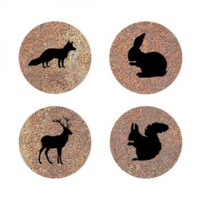 Collection brune -petits badges image