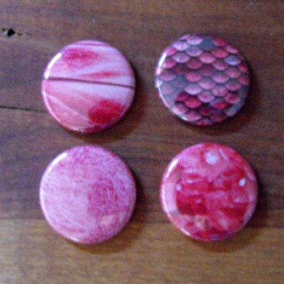 Badge texture rose bonbon