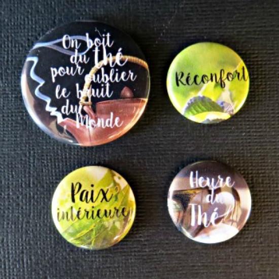 Badge citation-thé