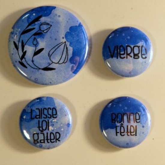 badge horoscope-vierge-bleu