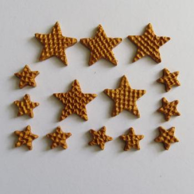 Fimo étoiles or (tricot)