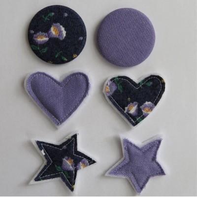 Jan2018t21- Kit mixte textile- marine et lilas