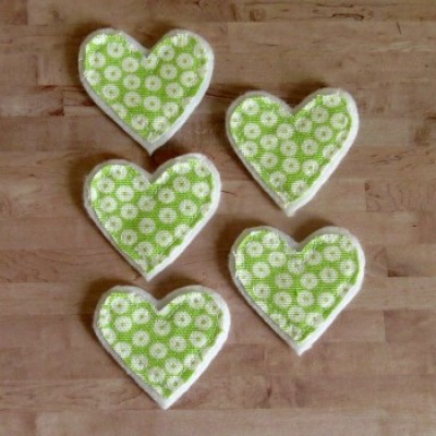 coeurs vert-lime collection amour