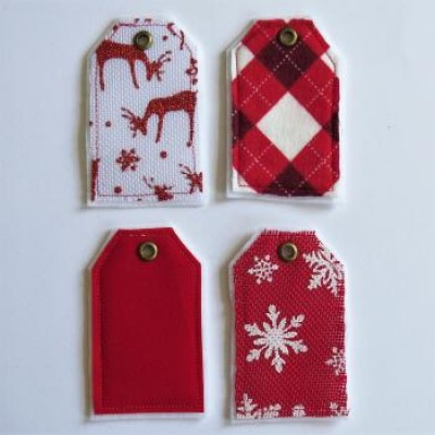Collection rouge & blanc - tags textile