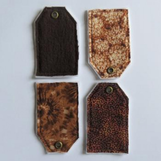 Collection brune- tags textile